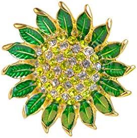 特別の日 ひまわり 花のブローチピン ジュエリー アクセサリー マルチカラー 女性への贈り物