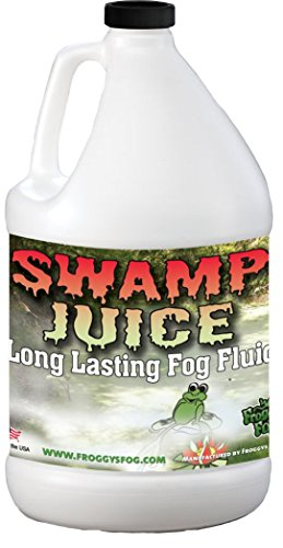Froggys Fog - Swamp Juice - Ridiculously Long Lasting Fog Fluid - 2-3 Hour Hand Time - 1 Gallon - For Professional and Home Haunters, Theatrical Effects, DJs (Super Smoke Fluid)