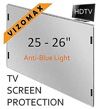 25 - 26 inch Anti-blue Light Vizomax Computer Monitor / TV Screen Protector Filter for LCD, LED & Plasma HDTV