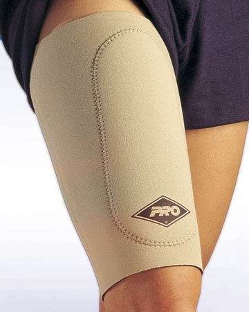 PRO Orthopedic #500 Thigh Support Sleeve, LARGE, BLACK N1 by PRO
