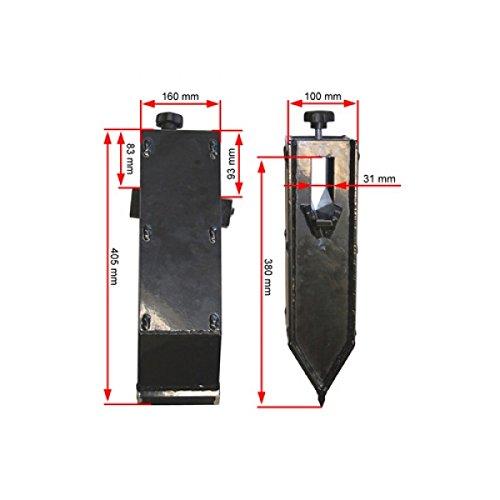 ORIGINAL ATIKA Ersatzteil - Spaltkeilverlängerung für Brennholzspalter ASP *NEU*