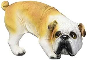 Design Toscano QL6324 Good Dog Gone Bad Peeing English Bulldog Statue Full Color Realistic