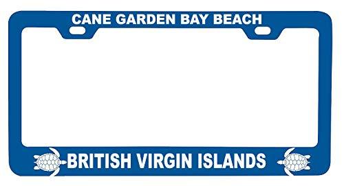 R and R Imports Cane Garden Bay Beach British Virgin Islands Turtle Design Souvenir Metal License Plate Frame
