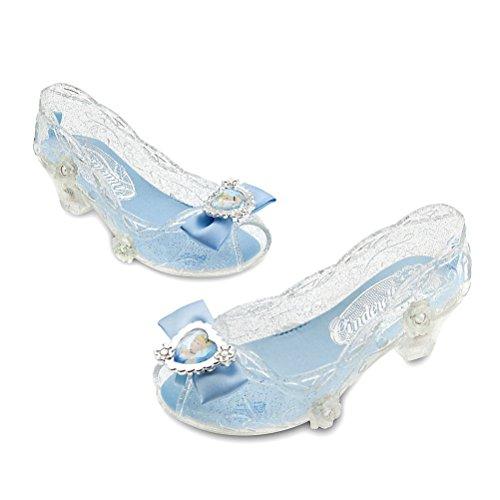Disney Store Princess Cinderella Little Girl Light Up Costume Dress Shoes (Cinderella Costume Shoes)