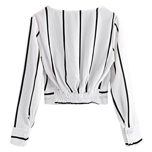 [S-XL] レディース Tシャツ Vネック ストライプ シフォン シャツ カジュアル 長袖 トップ おしゃれ ゆったり 人気 高品質 快適 薄手 ホット製品 通勤 通学