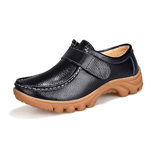 Flat Mother Nurse Work Casual Women's Shoes Black Shoes Shoes Hanxue qxTtYw5A