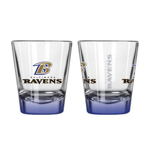 Baltimore Ravens Stained Glass - Boelter Brand Baltimore Ravens 2 Oz. Elite Collectible Shot Glass