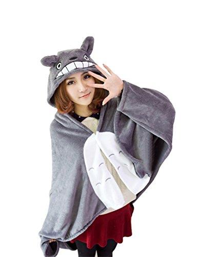 Nuoqi Anime Cape Cute Animal Cat Gray Cloak Cosplay Costume CC547C-F