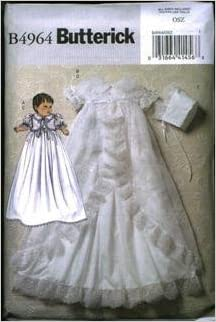 Butterick B4964 One Size Infant Christening Gown Butterick Pattern