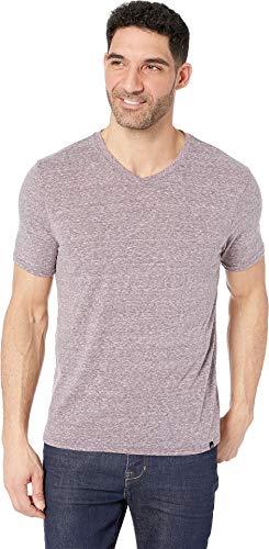 Threads 4 Thought Men's Baseline Tri-Blend V-Neck Tee Dark Plum Large - T-shirt Tri Blend