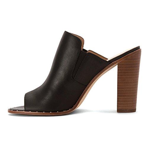 Pour La Victoire Womens Geo Leather Open Toe Mules Black visit new cheap online 4ZbO0jKS1
