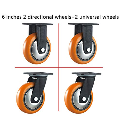 Office Chair Casters - Universal Swivel Casters - for Industrial Applications/Heavy Machinery/Equipment Brackets - Rubber Replacement Casters - 4 Pieces