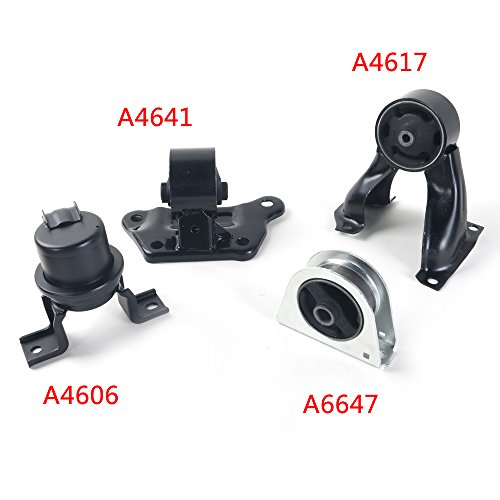 4PCS Trans Engine Motor Mount Kit for 02-07 Mitsubishi Lancer 2.0L