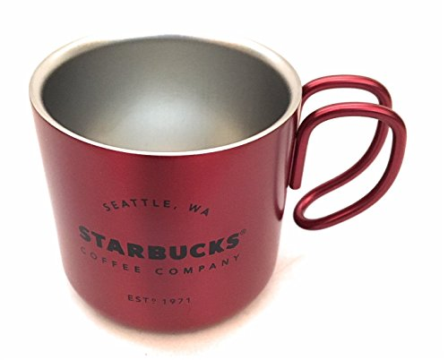 Starbucks Print (Starbucks 2017 Red Christmas Espresso Stainless Steel 3 Ounce Demi Mug)