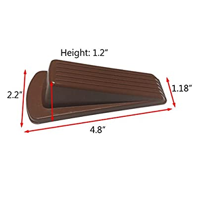 Door Stopper Rubber Stop Floor Wedge Holder Doorstop, Premium Quality Heavy Duty Non Slip Work Great on All Surfaces Doorstopper, Decorative Security Flexible Stops for Home and Office (6 Pack)