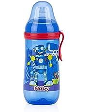 نوبي زجاجة تدريب ضد التسرب بفوهة شرب وغطاء للاطفال360 مل، اخضر