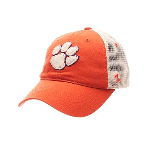 NCAA Clemson Tigers Adult Men University Relaxed Cap, Adjustable, Team Color/Stone