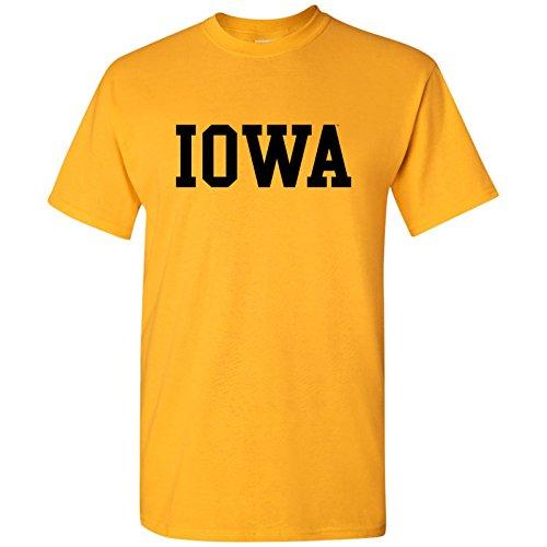 - Iowa Hawkeyes Basic Block T-Shirt - Large - Gold