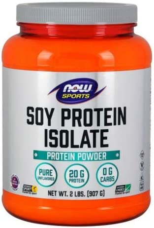 Now Foods Soy Protein Isolate Non-GMO Unflavored – 2 lbs. 2 Pack
