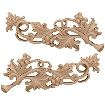 """Wooden carved solid Hardwood Decor 16-1//8/"""" x 3-1//2/"""" x 7//8/"""""""