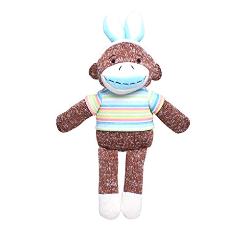 Handmade Stuffed Animal Sock Monkey Plush Toy Doll Collection 12 Inches Coffee By HollyHOME