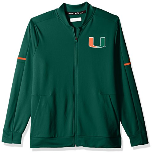 (Outerstuff NCAA Miami Hurricanes Men's Sideline Warm-Up Jacket, Medium, Dark Green)