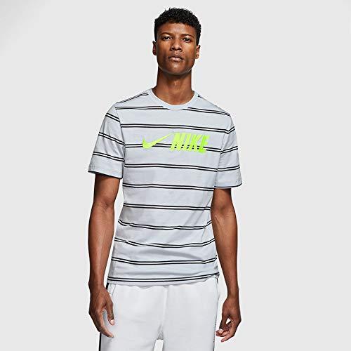 Nike Men's Sportswear Air Max 90 Short Sleeve T-Shirts CW4686-077 Light Smoke Grey/Black 5