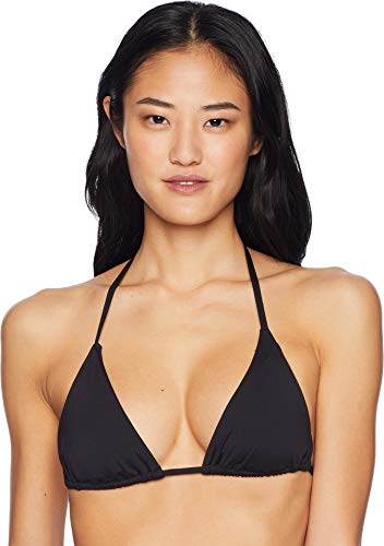Becca by Rebecca Virtue Women's Halter Sliding Triangle Bikini Top Black L - Sliding Halter
