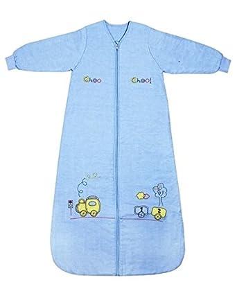 Saco de repetición Baby Saco de dormir de invierno manga larga 3.5 tog - Tren de - Disponible en varias tallas: de 0 a 6 años: Amazon.es: Bebé