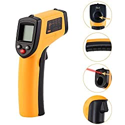 ALpha B Infrared Thermometer Temperature Tester Meter with LCD Display Sdf Ship, Handheld Weather Meter - Non Contact Voltage Tester, Waterproof Thermocouple, Thermometer Pen, Cooling Thermometer
