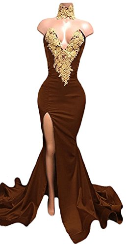 brown dresses for prom - 3