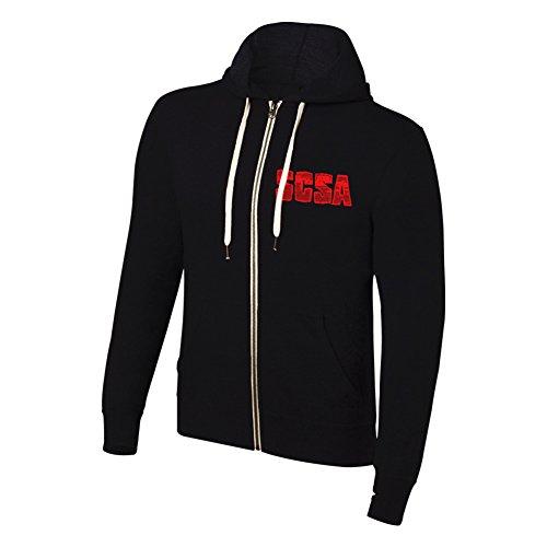 WWE Stone Cold Steve Austin Hell Yeah Full Zip Hoodie Sweatshirt Black XL by WWE Authentic Wear