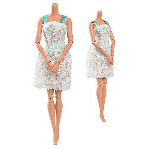 ASIV 5 sets Exquisito hecho a mano Moda Vestidos para muñecas Barbie ...
