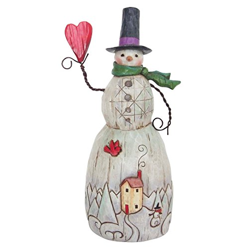 Enesco by Jim Shore Folklore Snowman with Heart