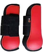 NC Horse Leg Tendon Boots Front Hind Fetlock Adjustable Brace PU Leather Protective Guard
