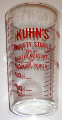 Advertising Collectible Measuring Glass