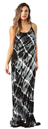 Riviera Sun 21775-BLK-M Summer Dresses Maxi Dress Sundresses for Women Black