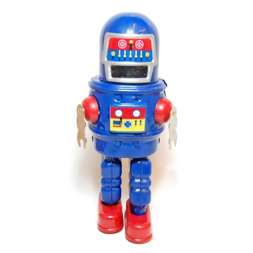 Mechanical Sparkling Roby Robot, Metal Robot Winds Up, Tin Toy Collection, 8.8'' Tall by Classic Tin Toy (Image #3)