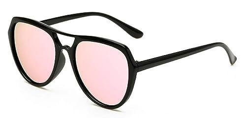 4d7ec667c407 WODISON Unisex UV400 Protected Classic Mirrored Lens Clear Frame Sunglasses  Blue Lens