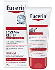 EUCERIN Eczema Relief Flare-up Treatment (57g), Eczema Cream with Colloidal Oatmeal & Ceramides, Relieves Skin Irritation & Itching, Skin Care Solution for Eczema Flare-Ups