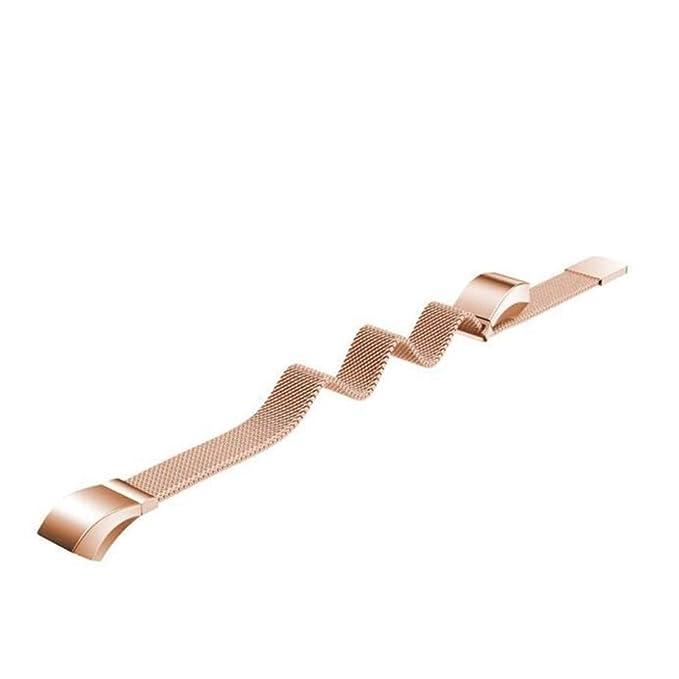 LANSKIRT milanés Bucle magnético Acero Inoxidable Pulsera de Correa de Banda Pulsera de Repuesto Reloj Recambio Brazalete para Huawei Honor 3: Amazon.es: ...