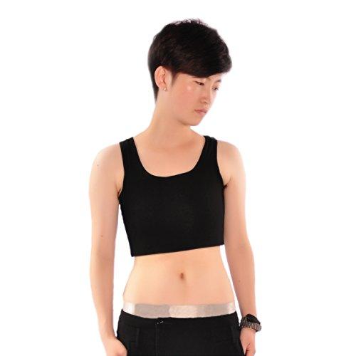 BaronHong Trans Lesbian Tomboy Elastic Band Cotton Underwear Chest Binder Tank Top