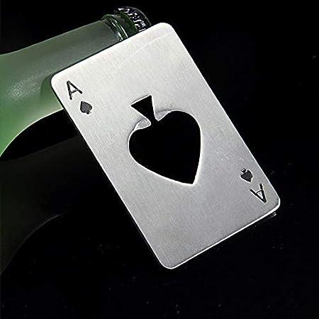 Sacacorchos Nuevo Y Elegante Venta Caliente 1pc Poker Naipe Ace Of Spades Bar Tool Soda Beer Bottle Cap Abridor De Regalo