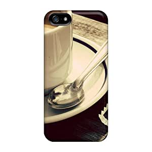Premium DrThFjM2879TtOIH Case With Scratch-resistant/ Coffee Biscuit Case Cover For Iphone 5/5s