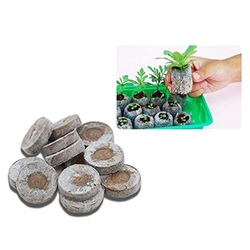 $6.99 Inverlee 5PC/10PC/15PC 30mm Pellets Seed Starting Plugs Pallet Seedling Soil Block Easy to Operate (15PC) 2019
