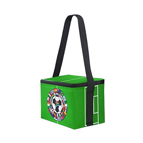 de de campo almuerzo correa para picnic refrigerador hombro bola de con Bolsa fiambrera de y fútbol banderas qfxwgE