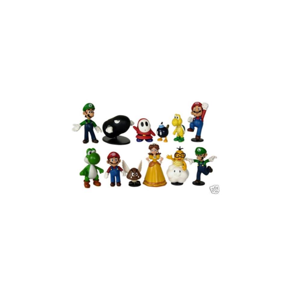 Nintendo Super Mario Bros Exclusive 12 Pcs. Figure Set Japan Import