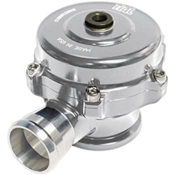 TiAL QR Recirculating Blow Off Valve - 11 psi (yellow) spring, Silver Body, Aluminum Flange - 1.50