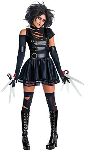 9 Costume Tim Burton (UHC Women's Fancy Dress Miss Scissorhands Edward Tim Burton Halloween Costume, M (8-10))