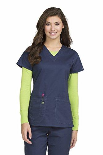 Top Nurse Scrub - Med Couture Women's 'MC2' Olivia Scrub Top, Navy, Large
